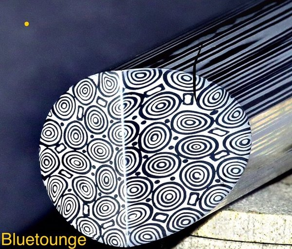 "13mm (.511"") x 39"" Damasteel Bluetounge Round Bar"