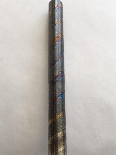 """.650"""" DIA X 12"""" Dark Titanium Damascus Twist"""