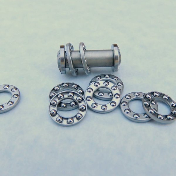 """3/16"""" 30 Pack Stainless Steel Caged Bearings"""