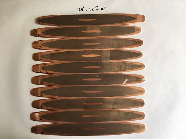 ".125"" x 1.25"" x 10"" Supercollider Superconductor Woodgrain"