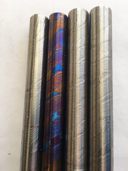 """.650"""" DIA X 12"""" MokuTi Titanium Damascus Twist"""