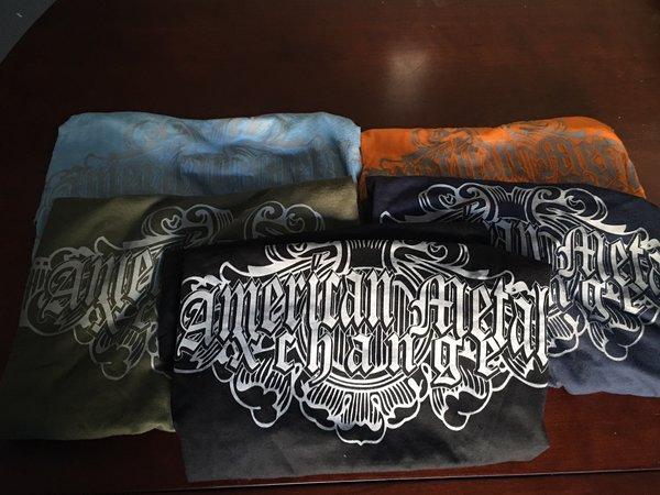 """American Metal Xchagne """"Black"""" Cotton Spun Shirt"""