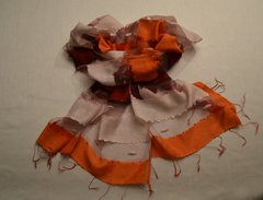 Handwoven Scarf with transparent panels