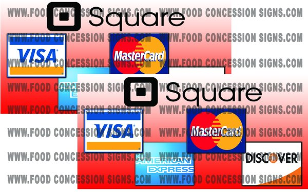 """Square Credit Cards....Quanity -2...size-12"""" x 6"""""""