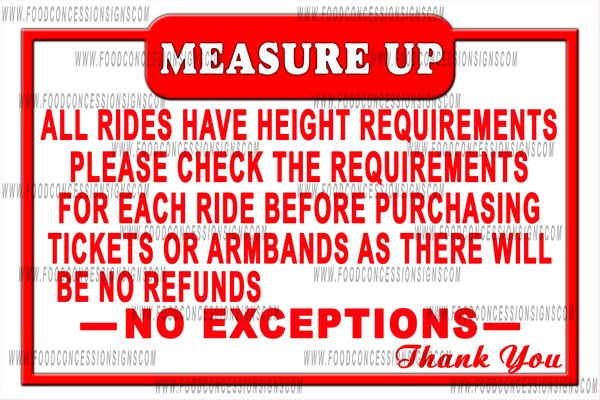 measure up ride sign