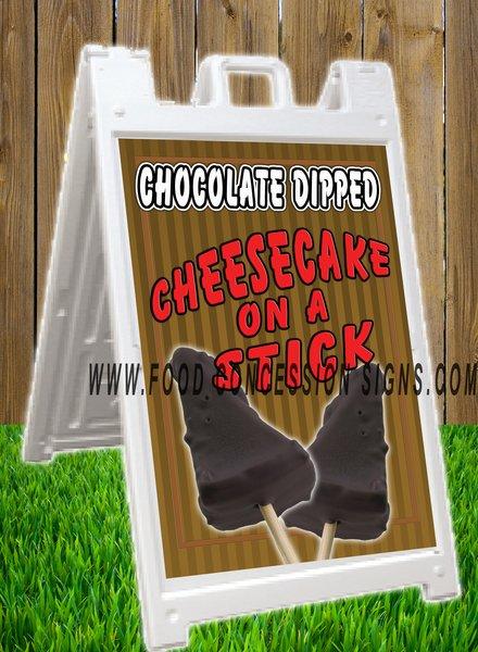 CHOCOLATE DIPPED CHEESCAKE