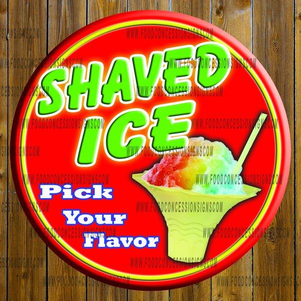 ROUND SHAVED ICE