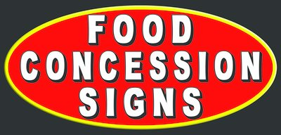 Food Concession Signs