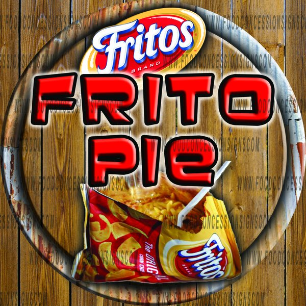 Frito Pie Food Concession Signs