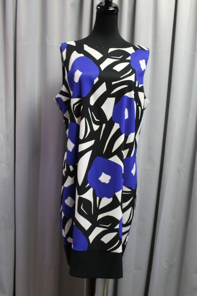 Black White And Royal Blue Dress By Ab Studio Sophisticated