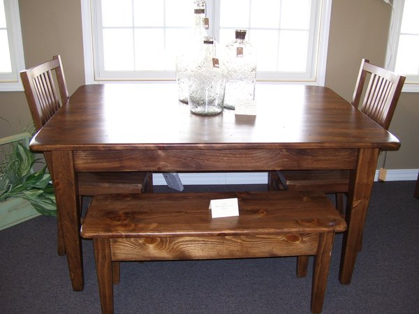 5\' Pine Dining Table | Wood Works by the Lake - handcrafted ...