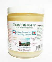 100% Natural Antiseptic Healing Cream (8 ounce glass jar)