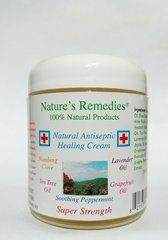 100% Natural Antiseptic Healing Cream(4 ounce glass jar)