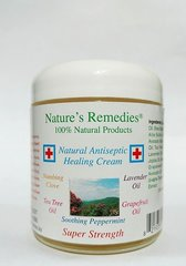 100% Natural Antiseptic Healing Cream (2 ounce glass jar)