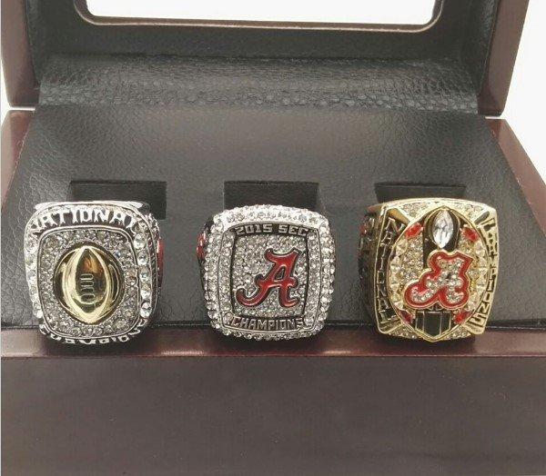 2015 Alabama Crimson Tide Sec Championship Replica Ring