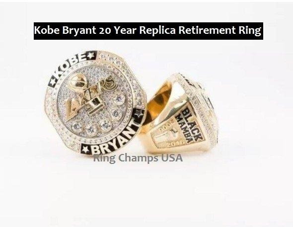 bryant quot black mamba quot 20 year retirement replica ring