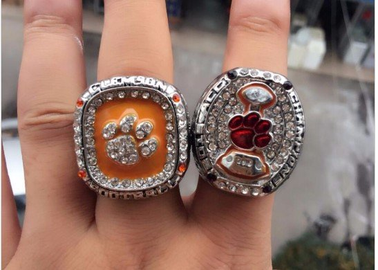 acc championship national ring tigers custom men s champions clemson rings football