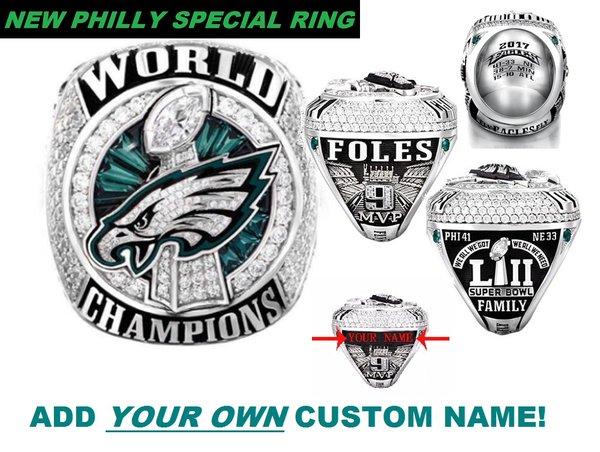 2018 Super Bowl LII (52) Championship Ring - NICK FOLES RING REPL   Championship Bling Rings For ...
