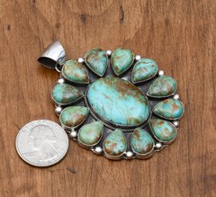 Sterling 13-stone Navajo pendant by Augustine Largo