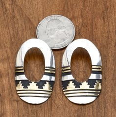 Signed, original Tommy Singer Sterling and gold-fill earrings made prior to his passing.—SOLD!