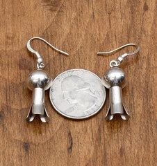Sterling Navajo squash blossom earrings by Monica Smith.