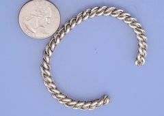 Navajo dead-pawn braided Sterling silver cuff.—SOLD!