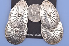 Dead-pawn Navajo hinged earrings