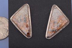 Navajo earrings with spider-web opals