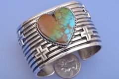 Have a heart—a beautiful Royston, Nevada turquoise heart crafted by renowned Navajo silversmith Andy Cadman!