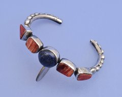 Navajo Sterling cuff with Lapis and spiney oyster shell.