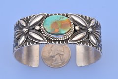 New Navajo turquoise cuff by Adam Cadman