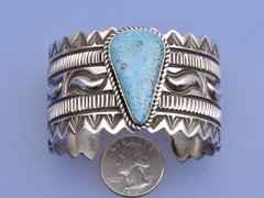 Sterling Navajo cuff by Alez Sanchez
