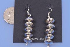 """Nice Navajo """"pearls"""" sterling earrings"""