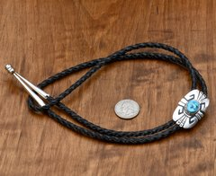 Smaller original, signed Tommy Singer bolo tie.