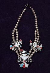 Zuni dead-pawn inlay necklace. —SOLD!