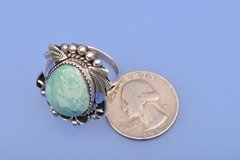 Navajo ring with large turquoise stone