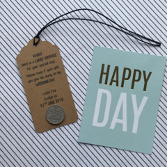 Lucky Sixpence Gift Tag For Dad