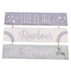 Life Is All Rainbows and Unicorns 3 Tier Plaque