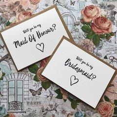 Wedding Card, Will You Be My Bridesmaid?