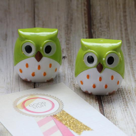 Owl Pencil Sharpener - Green