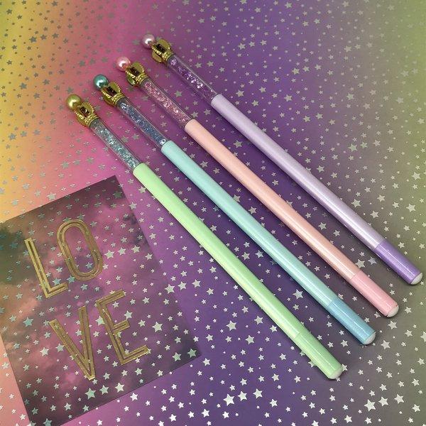 Pastel Crystal Crown Gel Pen