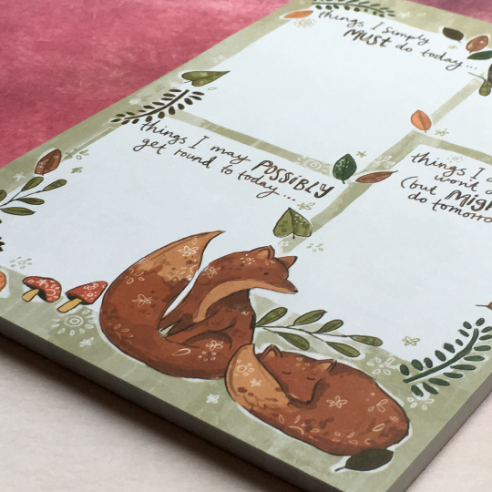 Woodland Friends A5 Notepad