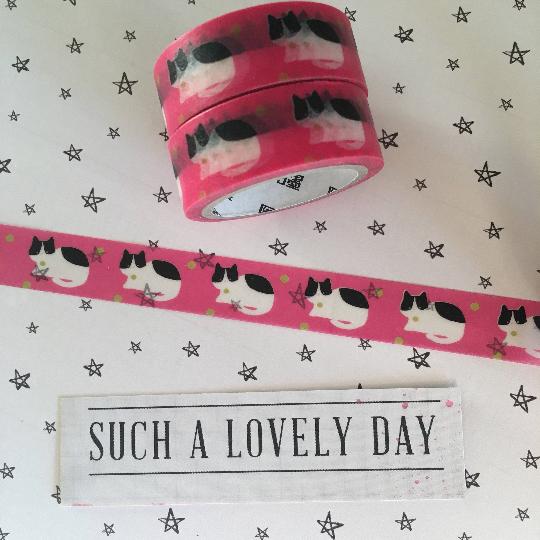 Washi Tape - Bright Pink Cat