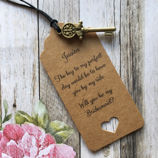 Will You Be My Bridesmaid? Vintage Key