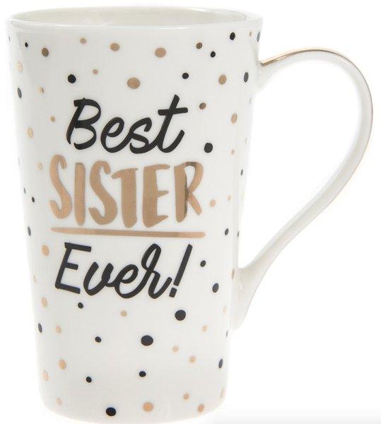 Golden Spot Latte Mug - Best Sister Ever!