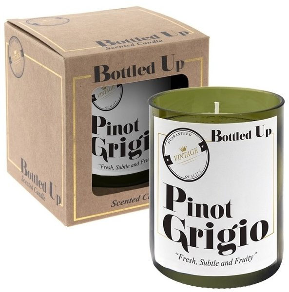 Recycled Bottle Candle - Pinot Grigio