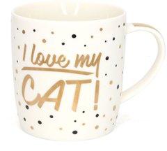 Golden Spot China Mug - I Love My Cat!
