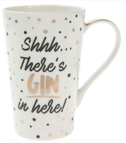 Golden Spot Latte Mug - Shhh... There's GIN in here!
