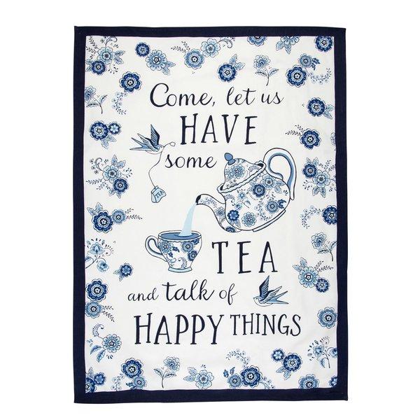 Sass & Belle Blue Willow Floral Tea Towel