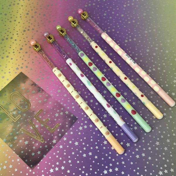 Patterned Crystal Crown Gel Pen